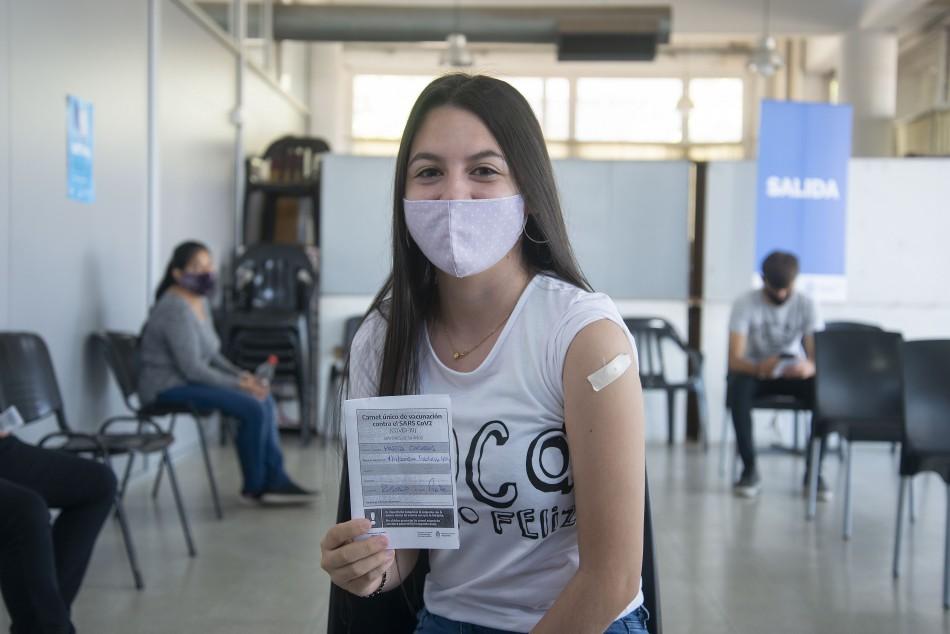 El municipio aplicó por primera vez vacunas Pfizer a menores de 17 años